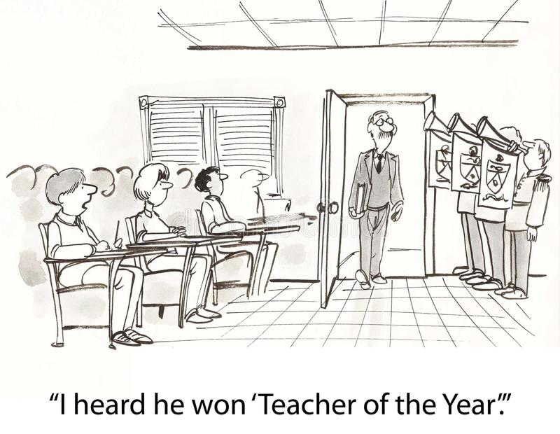 Teacher Of Year Royalty Free Stock Photography