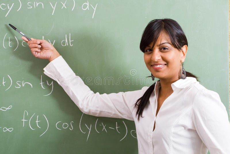 teacher young στοκ φωτογραφία