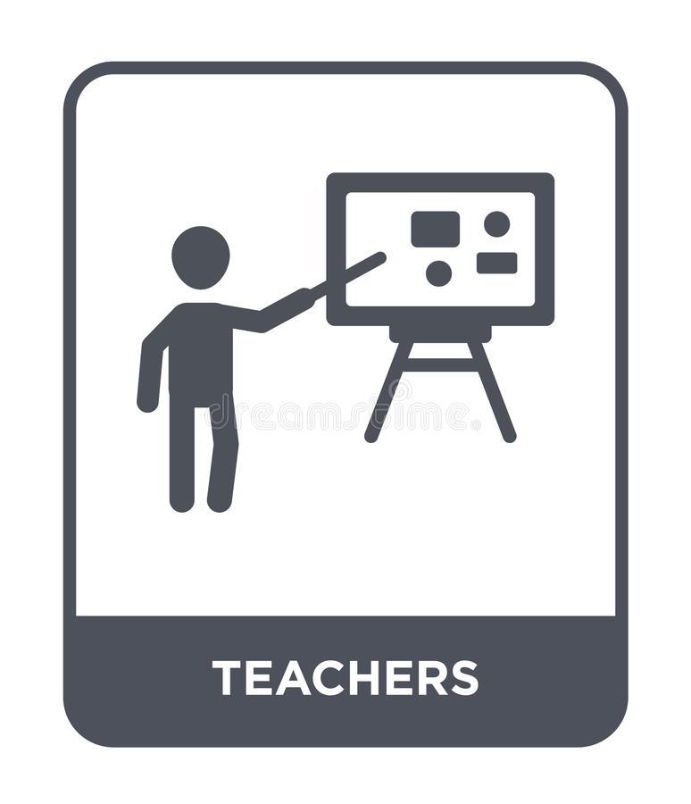 teachers icon in trendy design style. teachers icon isolated on white background. teachers vector icon simple and modern flat royalty free illustration