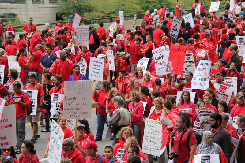 Download Teachers Strike Chicago A editorial photography. Image of demonstration - 26602572