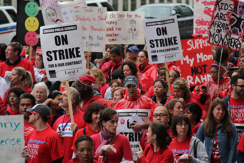 Download Teachers Strike Chicago C editorial photography. Image of politics - 26602612