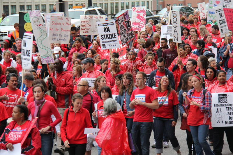 Download Teachers Strike Chicago D editorial image. Image of news - 26602620