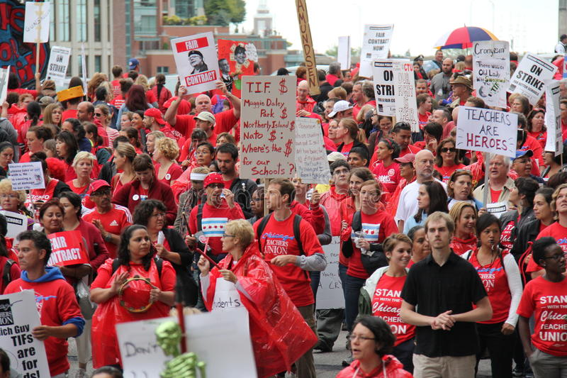 Teachers Strike Chicago H Editorial Stock Image
