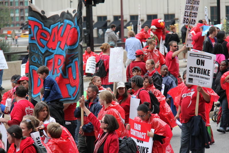 Download Teachers Strike Chicago N editorial stock photo. Image of contract - 26602453