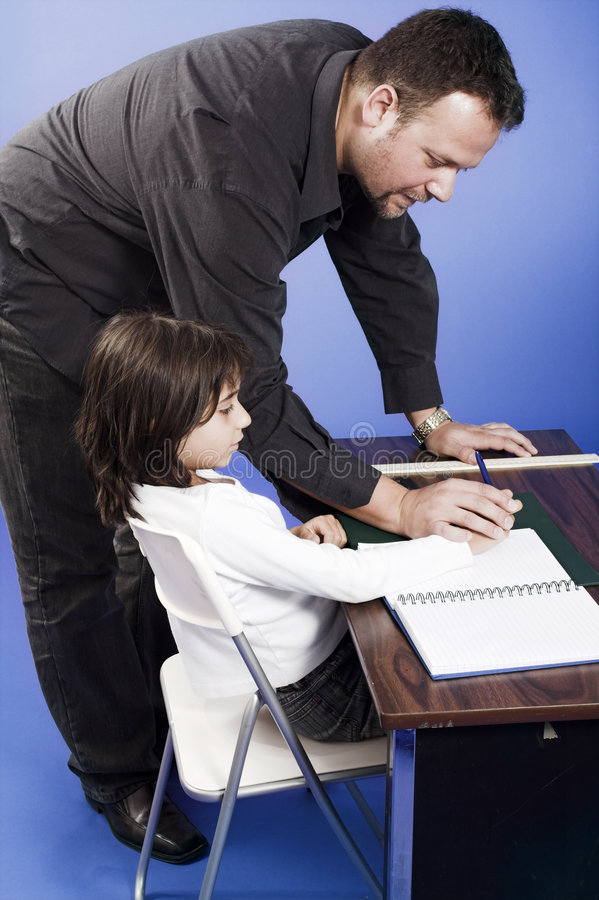 Teaching class stock image