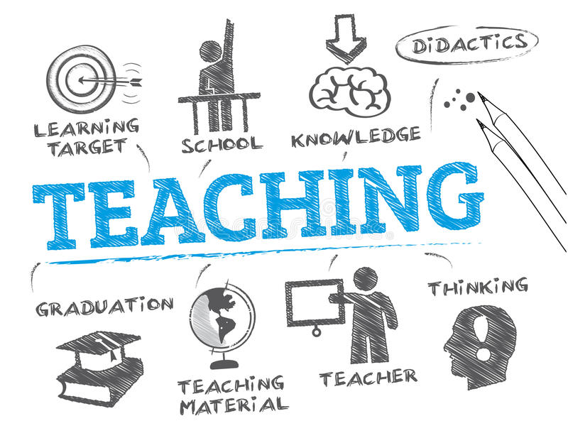 Teaching concept stock illustration