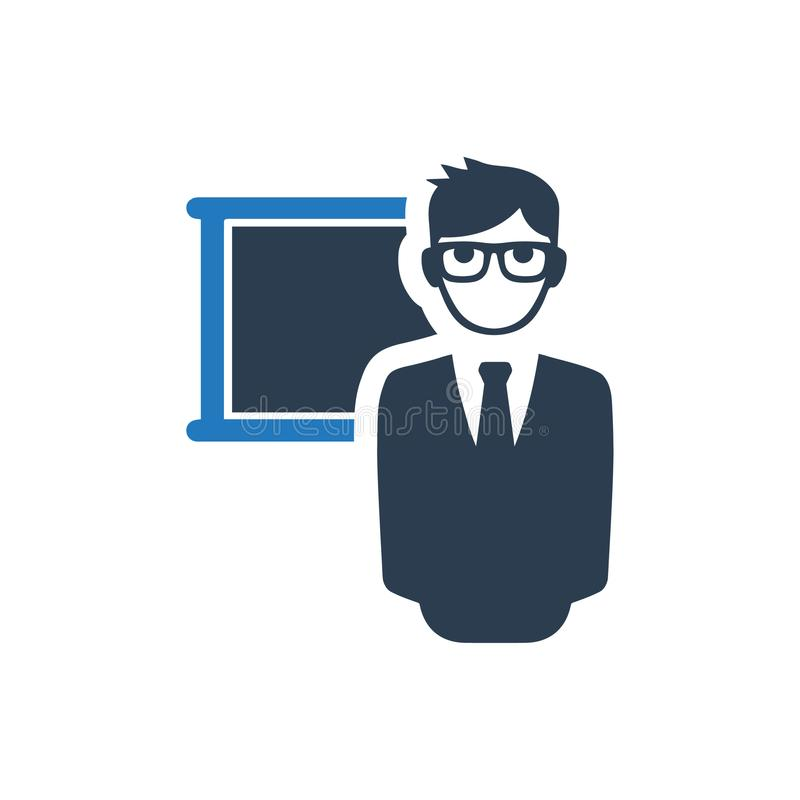Teaching Icon. Beautiful, meticulously designed Teaching Icon. Perfect for use in designing and developing websites, printed materials and presentations royalty free illustration