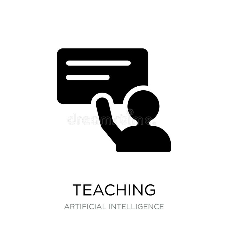 teaching icon in trendy design style. teaching icon isolated on white background. teaching vector icon simple and modern flat stock illustration