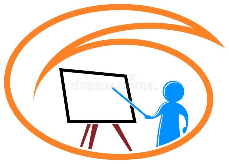 Teaching logo royalty free illustration
