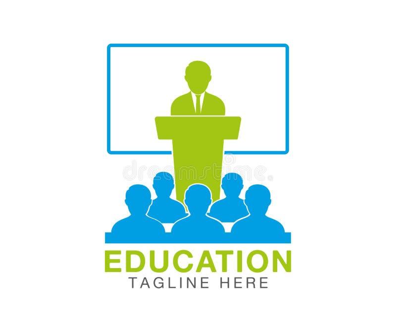 Teaching logo. Editable vector royalty free illustration