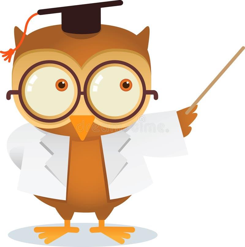 Teaching owl vector illustration