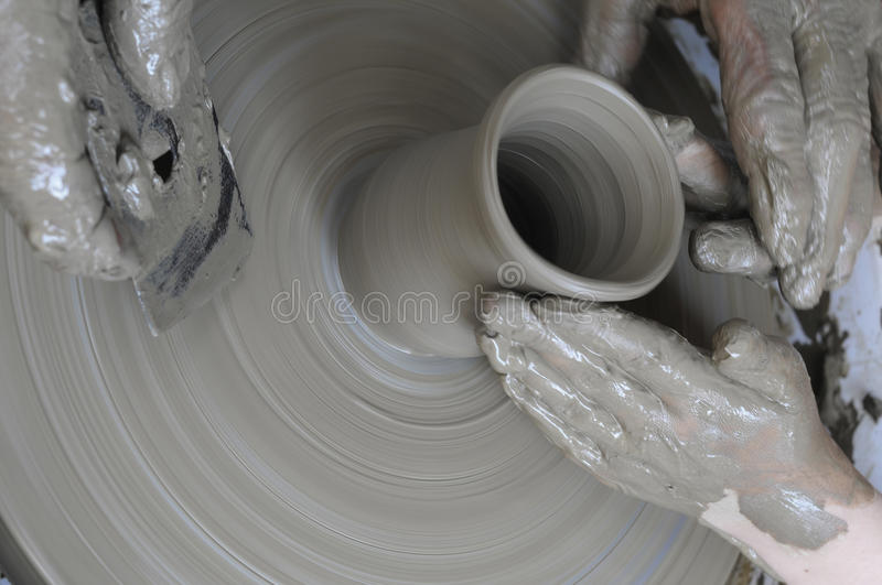 Teaching pottery stock photography