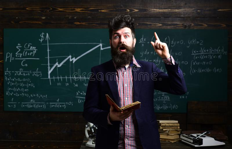 Teaching private classes is one of the best options for teacher now. Speaker at business workshop and presentation stock image
