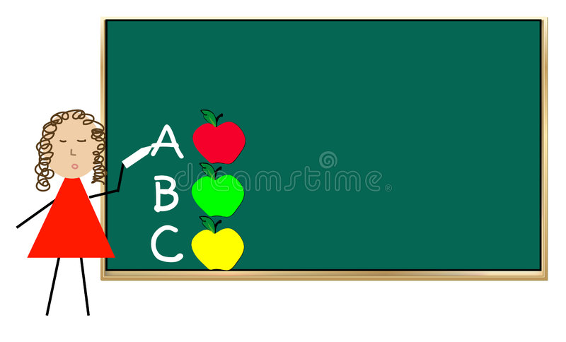 Download Teaching school lesson stock vector. Image of green, children - 4362237