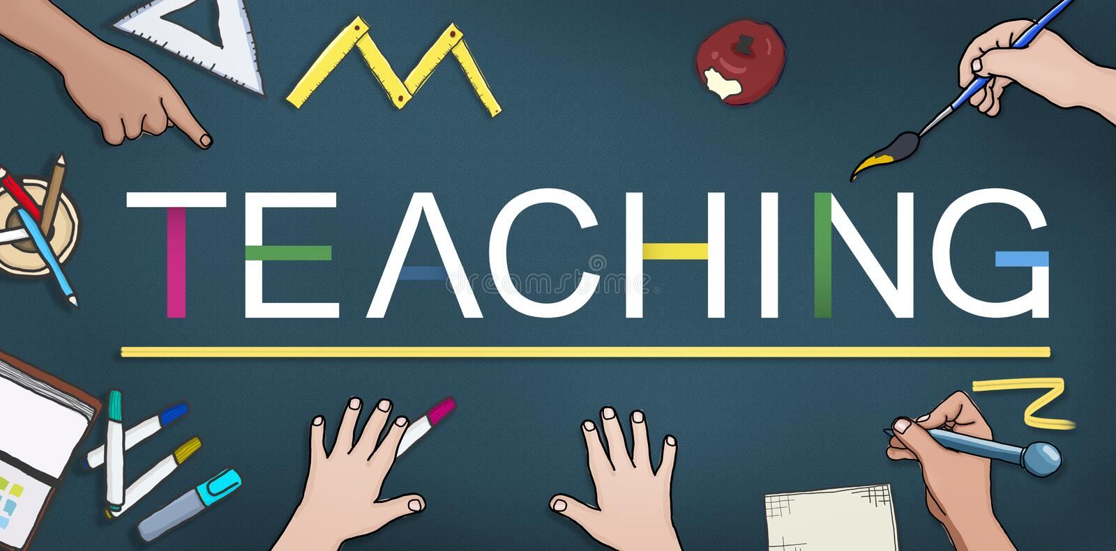 Teaching Teach Teacher Training Development Concept royalty free illustration