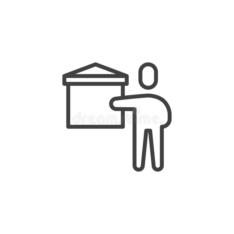 Teaching teacher line icon vector illustration