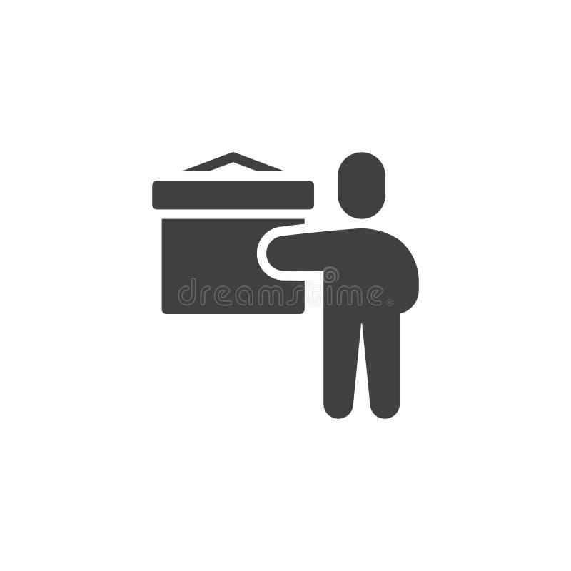 Teaching teacher vector icon stock illustration