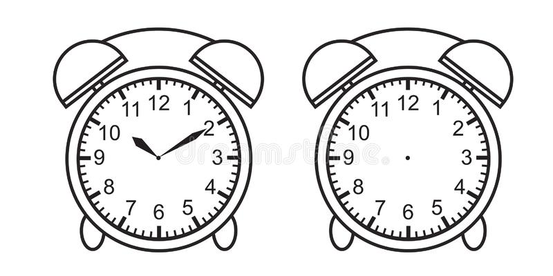 Teaching time chart telling the time for teacher chart  for teaching time clock face or blank clock face. Vector stock illustration