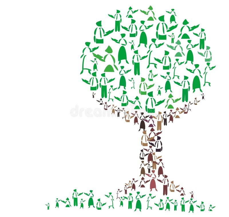 Download Teaching tree stock illustration. Image of library, adult - 6125917