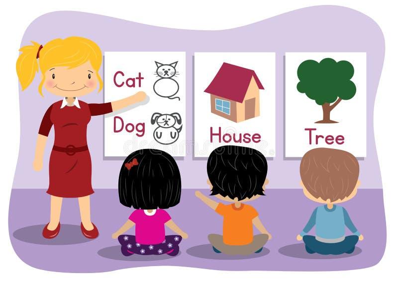 Teaching Words stock illustration