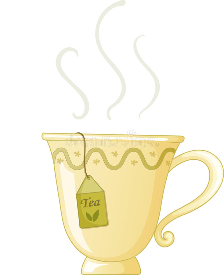 Teacup ilustração stock