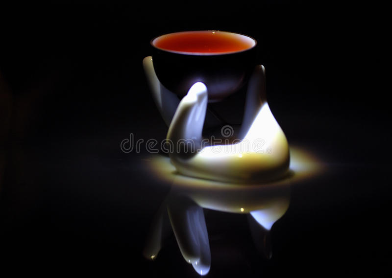 Teacup stock image