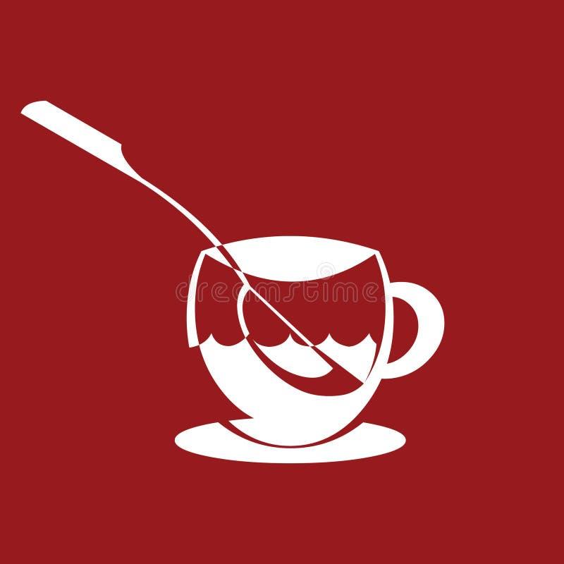 Teacup stock illustration