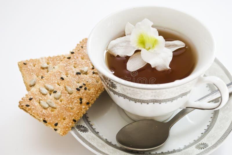 Teacup e flores fotos de stock royalty free