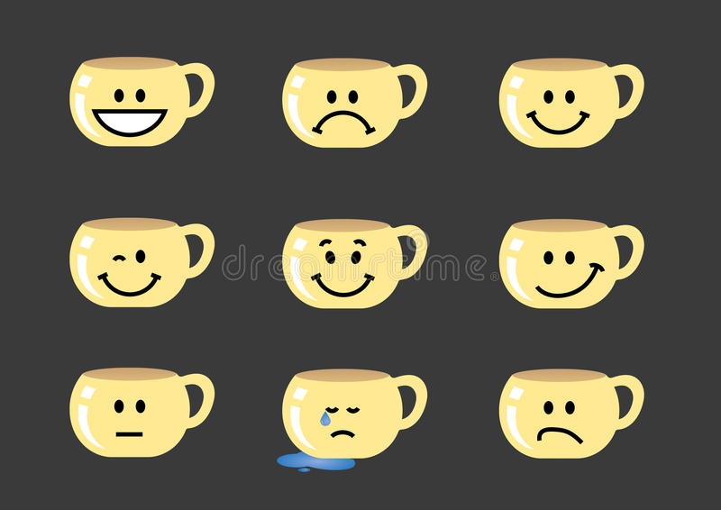 Teacup emotions royalty free stock photography