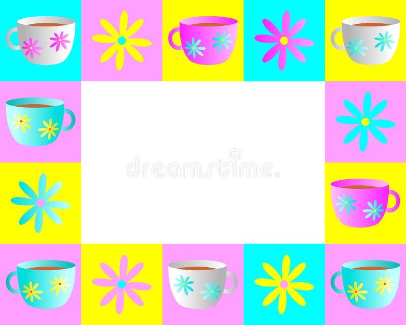 Teacup Frame vector illustration