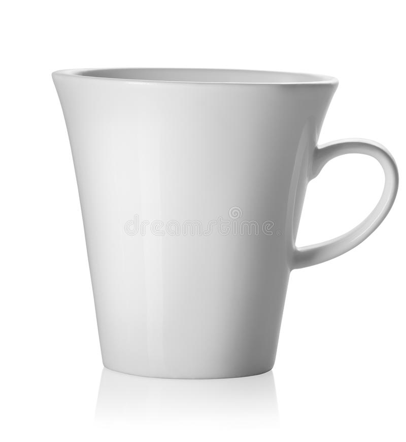 Teacup isolado no branco fotografia de stock