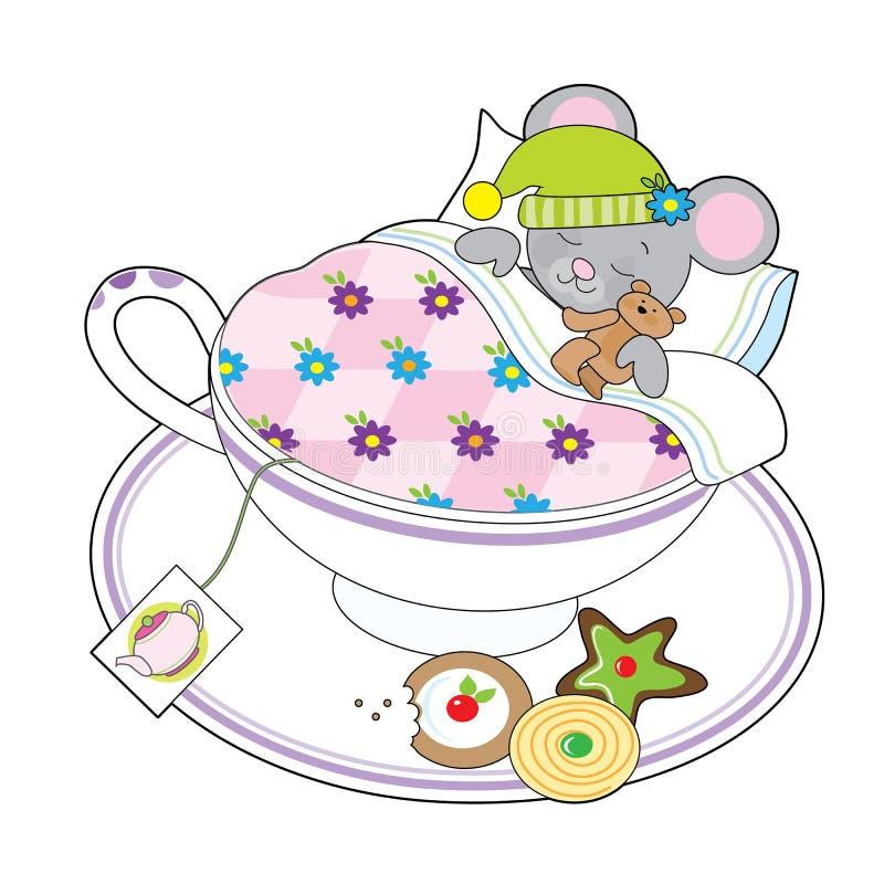 Teacup mysz ilustracji