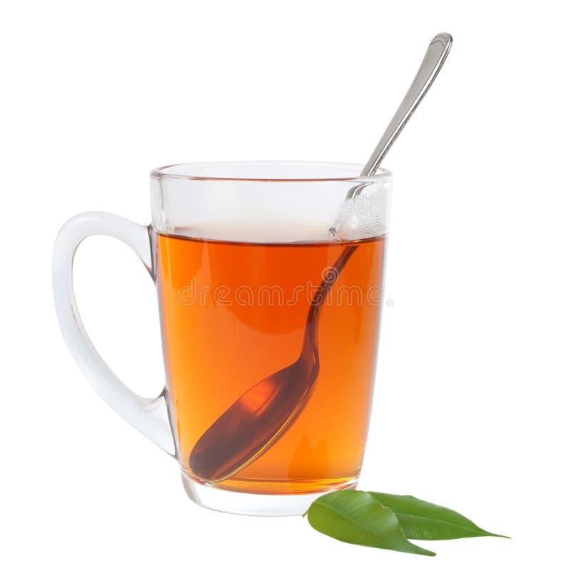 Teacup with spoon stock photos