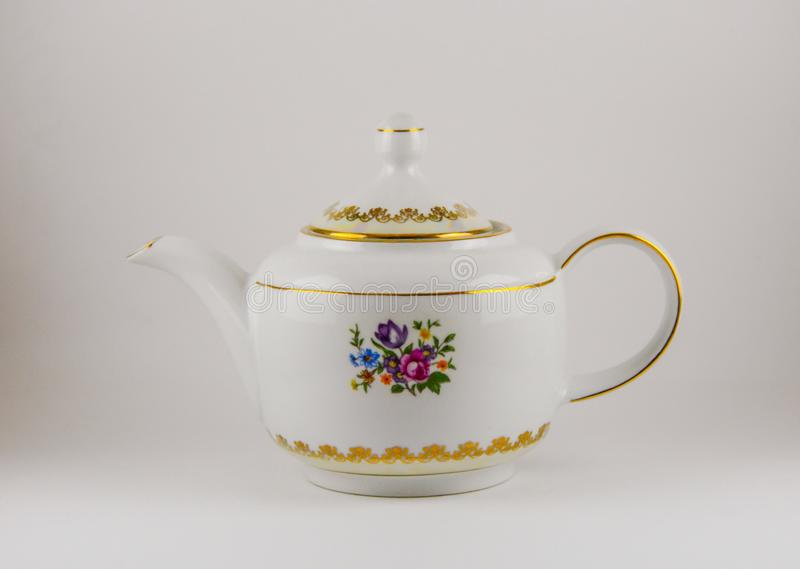 Teapot. On table royalty free stock photography