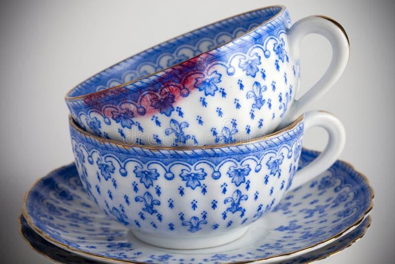 Teacups fotografia de stock