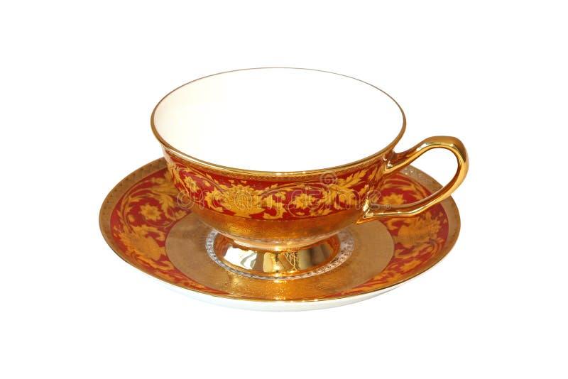 teacuptappning royaltyfri fotografi