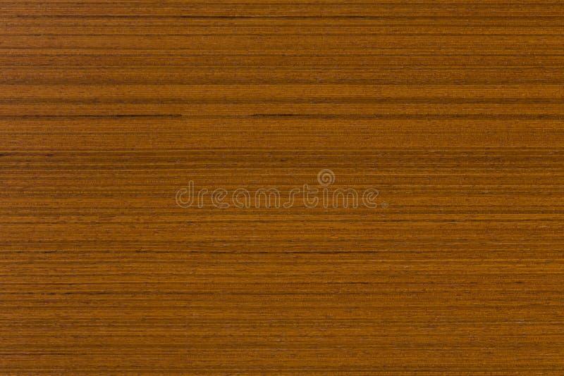 Teak veneer, natural wooden background on macro. royalty free stock image