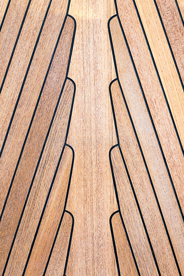 Teak wood on boat. Texture royalty free stock photo