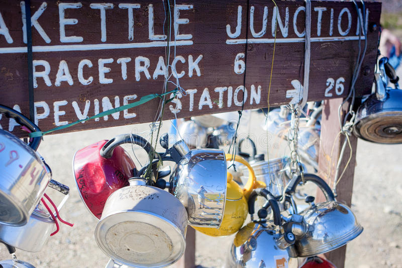 Teakettle Junction in Death Valley , California, United States o. F America. Horizontal Image Composition royalty free stock photography