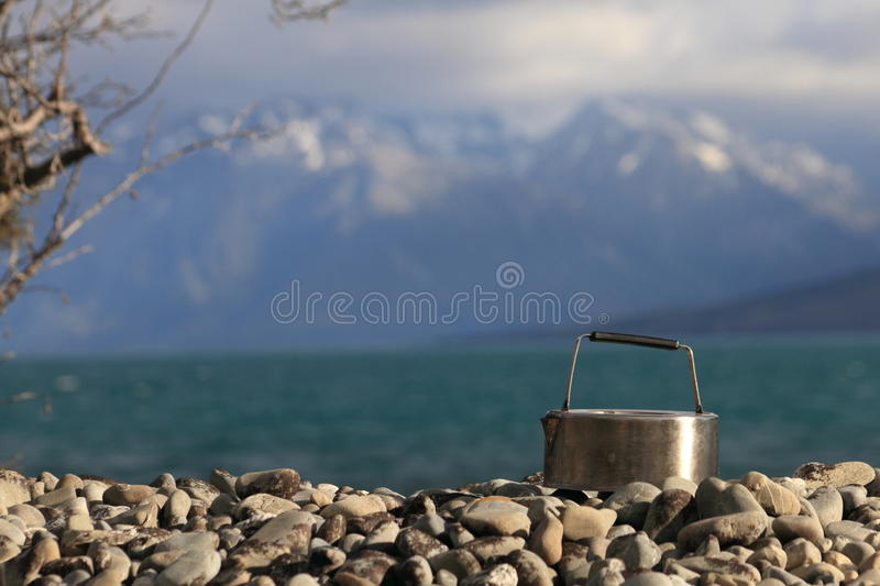 Teakettle Lake Ohau. New Zealand stock photography