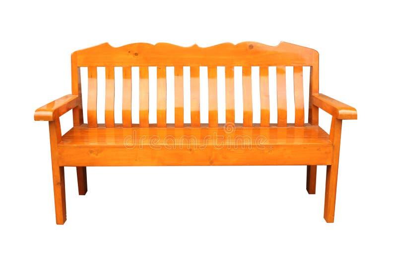 Teakwood krzesło odizolowywający w białym tle obraz royalty free