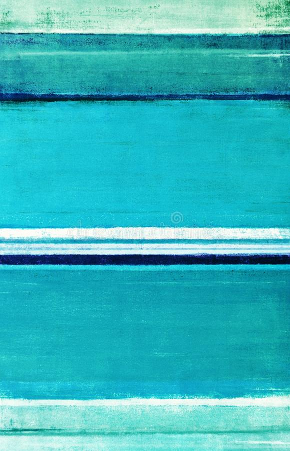 Teal Abstract Art Painting arkivfoton