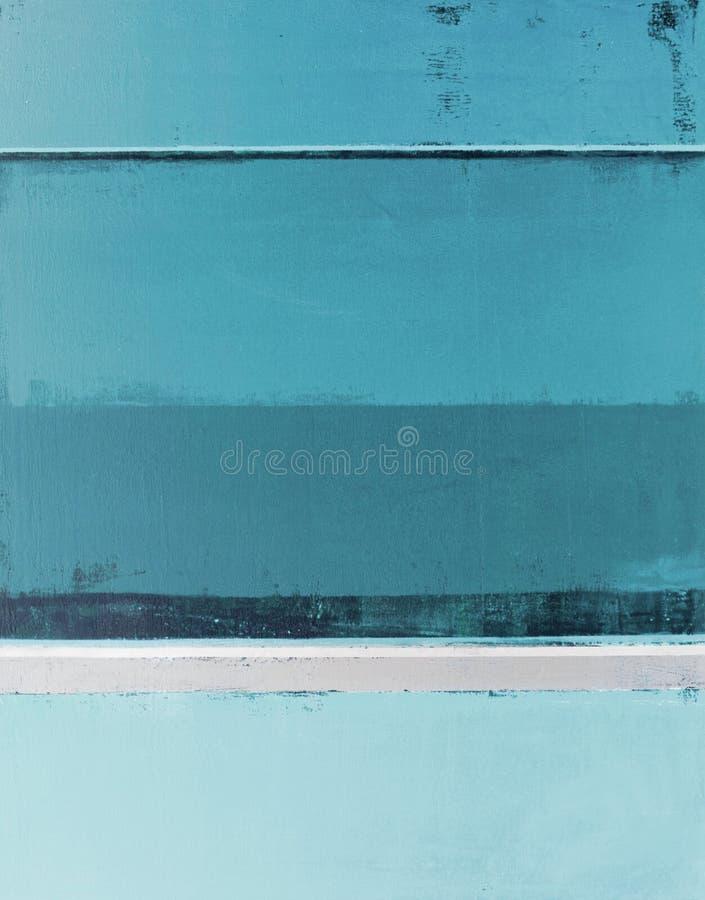 Teal Abstract Art Painting arkivbild