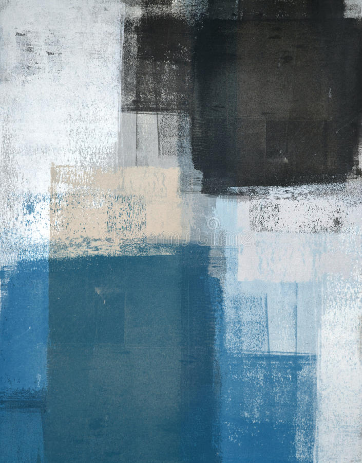 Free Teal And Brown Abstract Art Painting Stock Image - 38335821