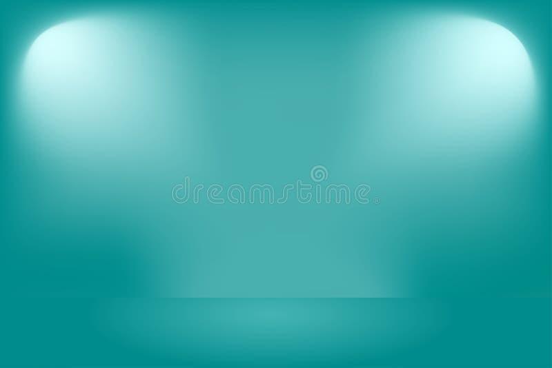 Teal background product presentation royalty free illustration