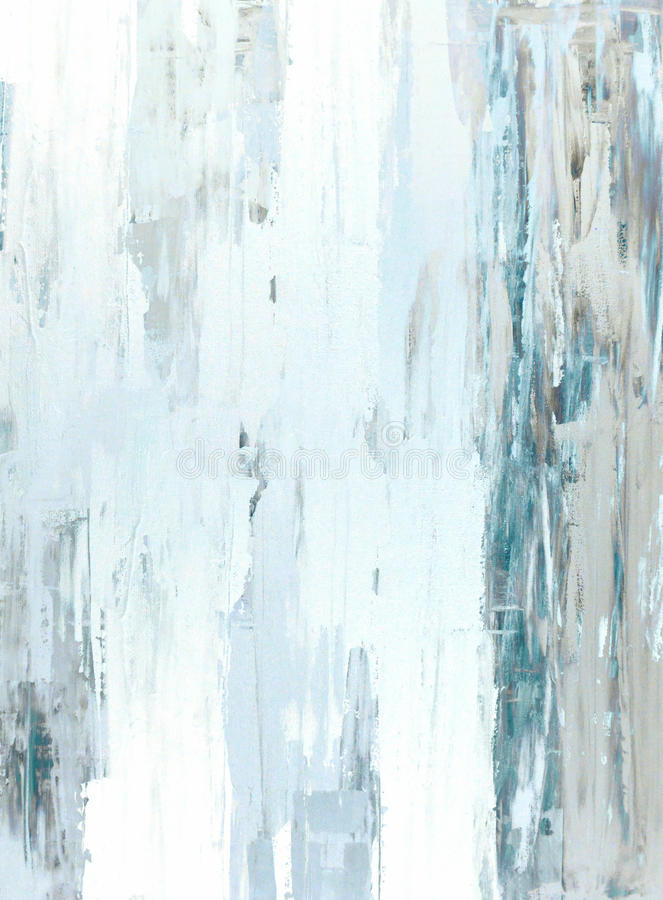 Teal and Beige Abstract Art Painting royalty free stock photos
