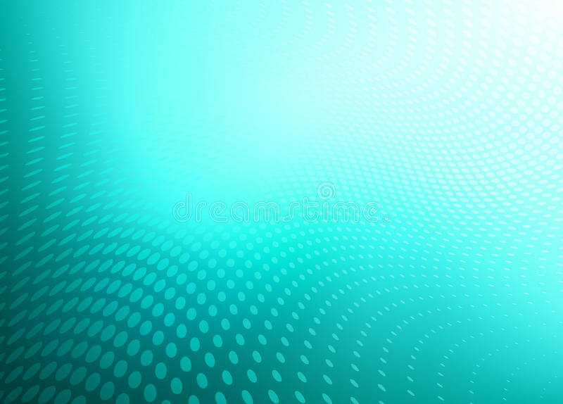 Teal Blue Dot Swirl Background abstrait illustration stock
