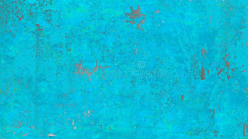 Teal Blue Grunge Background Steel fotografie stock