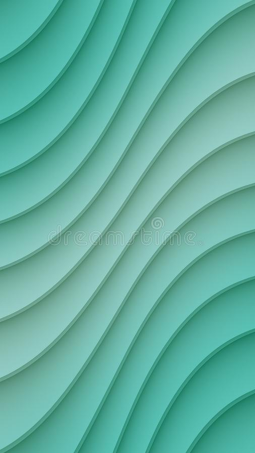 Teal Blue smooth diagonal 3d curved lines abstract wallpaper background vector illustration
