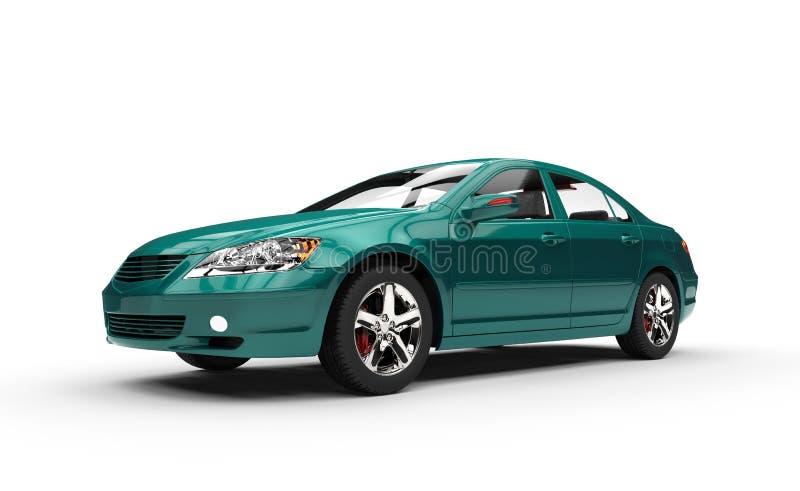 Teal Business Car stock illustration